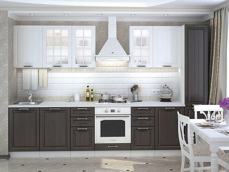 варианты серо белой кухни