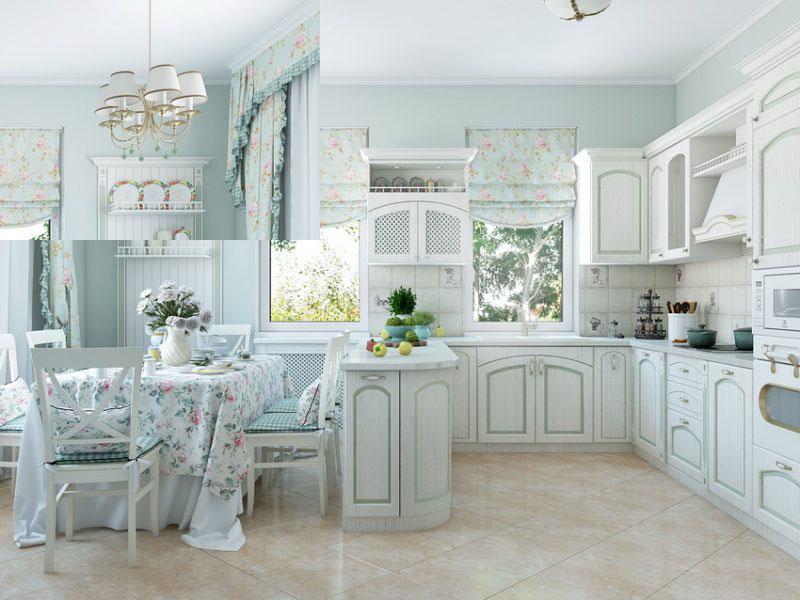 Заказать белую кухню прованс