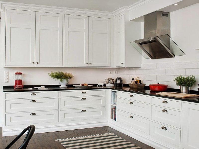 Заказать белую кухню в скандинавском стиле