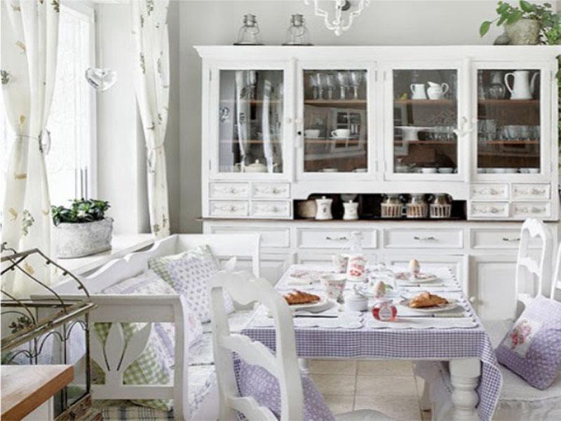 Заказать кухню белую в стиле прованс