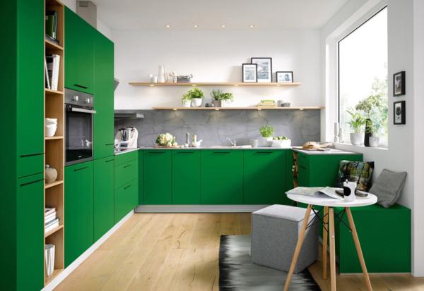 zelenaya kuhnya s otkrytymi polkami, 3, Как выбрать цвет кухни цвет кухни